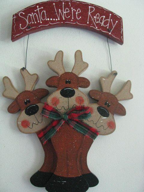 sign wall decor door decoration reindeer Christmas. Santa