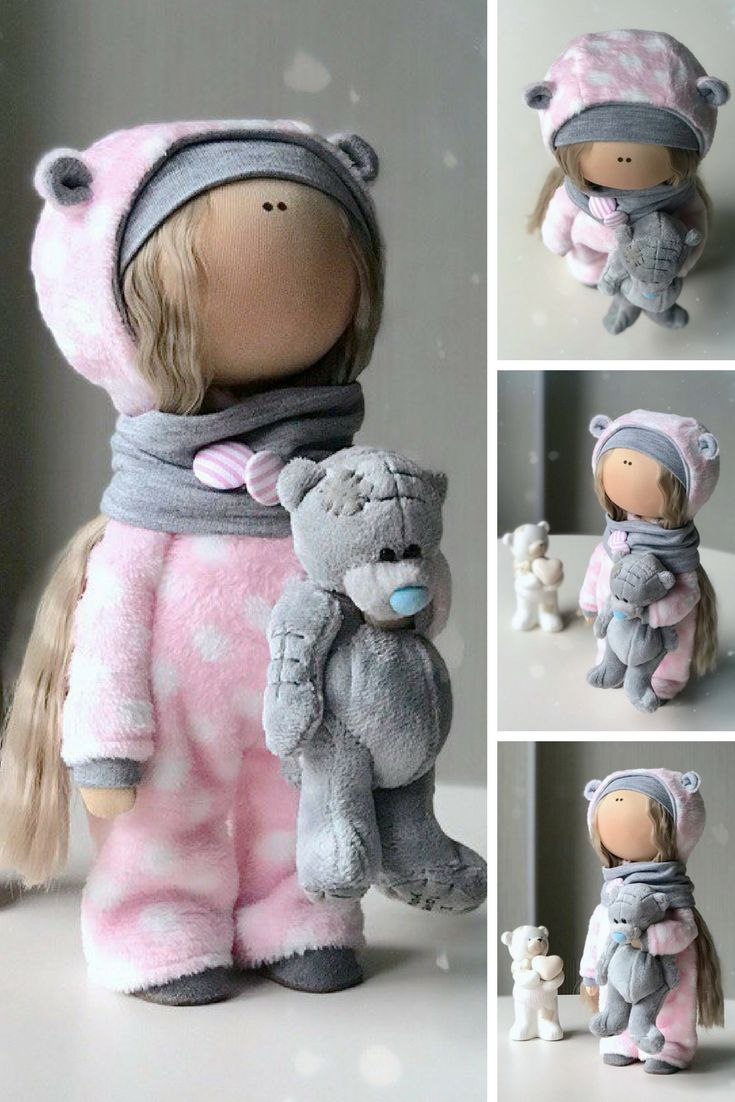 Baby Art Doll Decor Soft Doll Handmade Fabric Doll Poupée Tilda Doll Textile Cloth Doll Bambole Rag Doll Muñecas Pink Winter Doll by Yulia K  Such dolls and toys can be great present for your beloved people. Besides, our dolls perfectly fit home decor and interior decoration: nursery, bedroom etc.