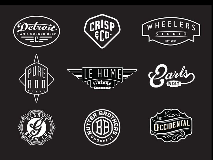 Modern Retro Logo Design 1000+ images about Mod...