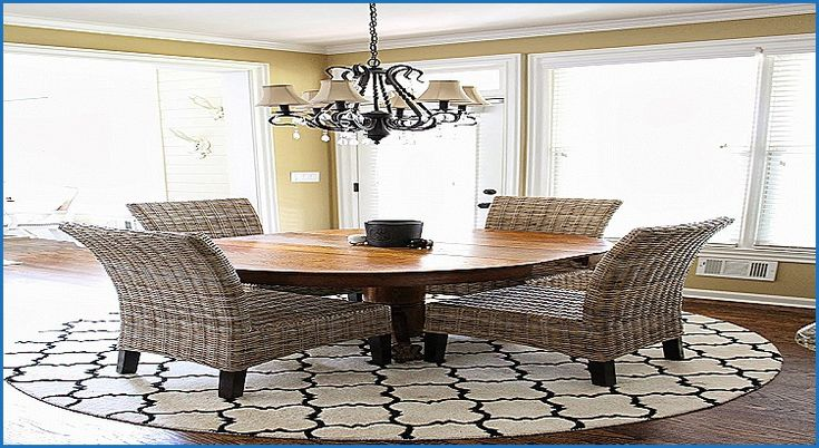 countermoon  rug under kitchen table round kitchen