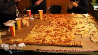 Guinness World Record's Largest Deliverable Pizza v. a Dog & 6 Humans in our Pizza Challenge!, via YouTube.@bigmamaspizza #BMPP