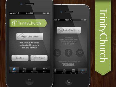 Trinity Church iPhone App UI