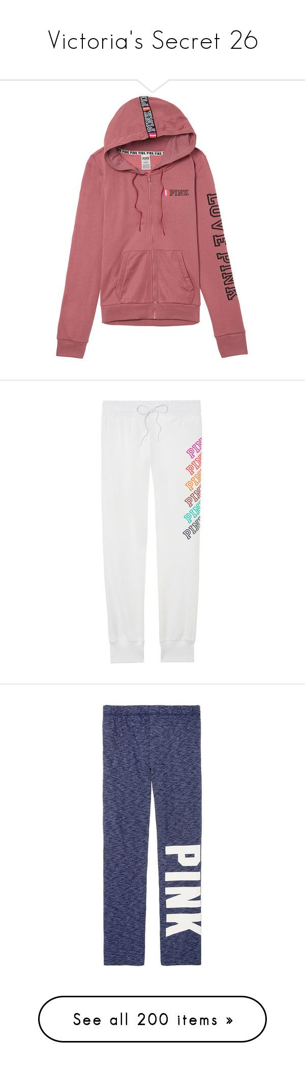 """""""Victoria's Secret 26"""" by ponyshirtirwin ❤ liked on Polyvore featuring victoria's secret, activewear, activewear pants, jogger sweatpants, skinny leg sweat pants, victoria secret sportswear, victoria secret activewear, skinny sweat pants, intimates and hosiery"""