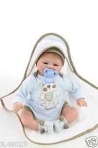 "18"" Silicone Doll Realistic Soft Silicone Reborn Baby Lifelike Baby Dolls #L"