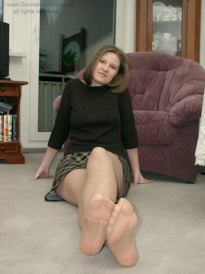 Woman feet germany nylon
