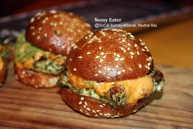 Chicken Slider -Visit http://nessyeater.wordpress.com/2014/07/18/socal-sydney-social-event-neutral-bay/ for more info.