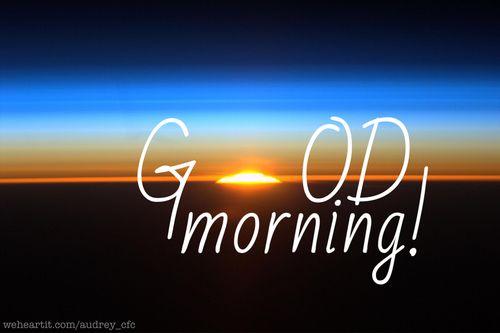 Good morning! | beautiful, nature and nice