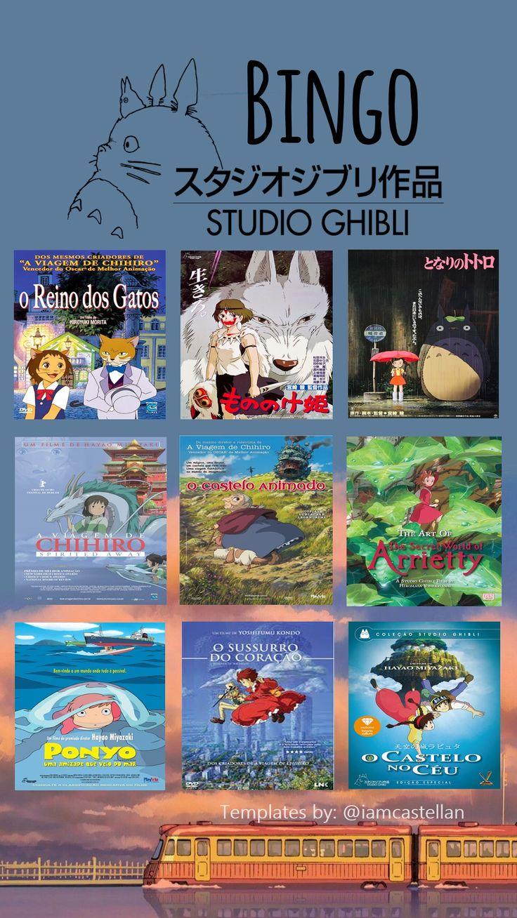 Studio Ghibli Instagram Bingo Story Template in 2020