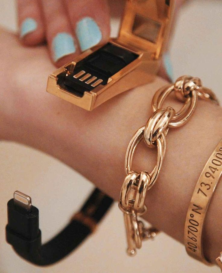 This stylish Rebecca Minkoff cable bracelet lets you charge your phone on the go