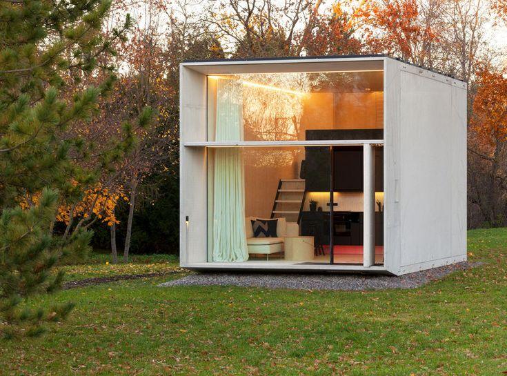A jövő otthonai - moduláris könnyen áthelyezhető tökéletesen felszerelt kis házak környezetbarát kialakítással