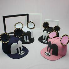 2015 bonito dos desenhos animados Mickey boné de beisebol big ear rato Snapback chapéus marca Hip - hop cap óssea gorra aba reta mulheres Chapeau(China (Mainland))