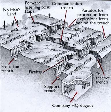 Diagram of a trench in WWI                                                                                                                                                      More