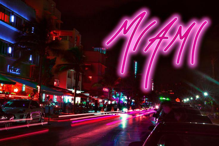 Vice City postcard outrun Neon signs, City, Neon
