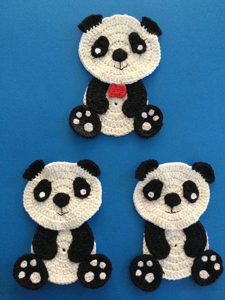 Free sitting panda crochet pattern.