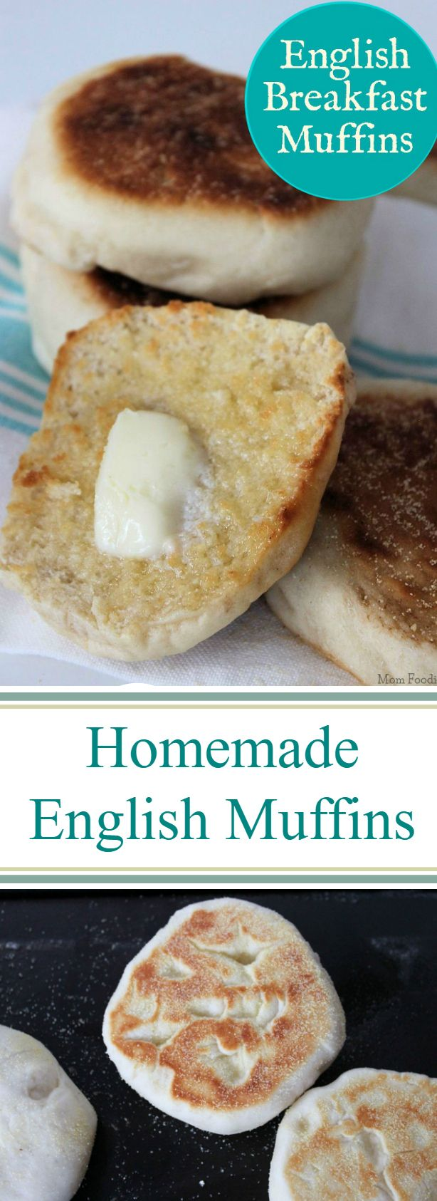 English Breakfast Muffins, known simply as English muffins to most of us are actually pretty easy to make.  Have your family enjoying your own homemade English muffins with this simple recipe.