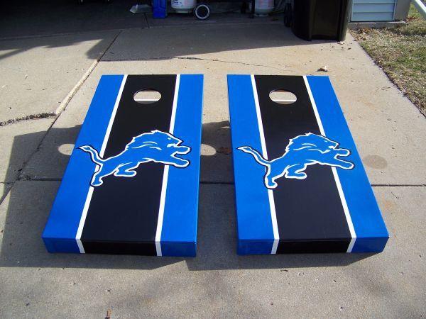 Detroit Lions Cornhole Boards By BeerCityCornhole On Etsy