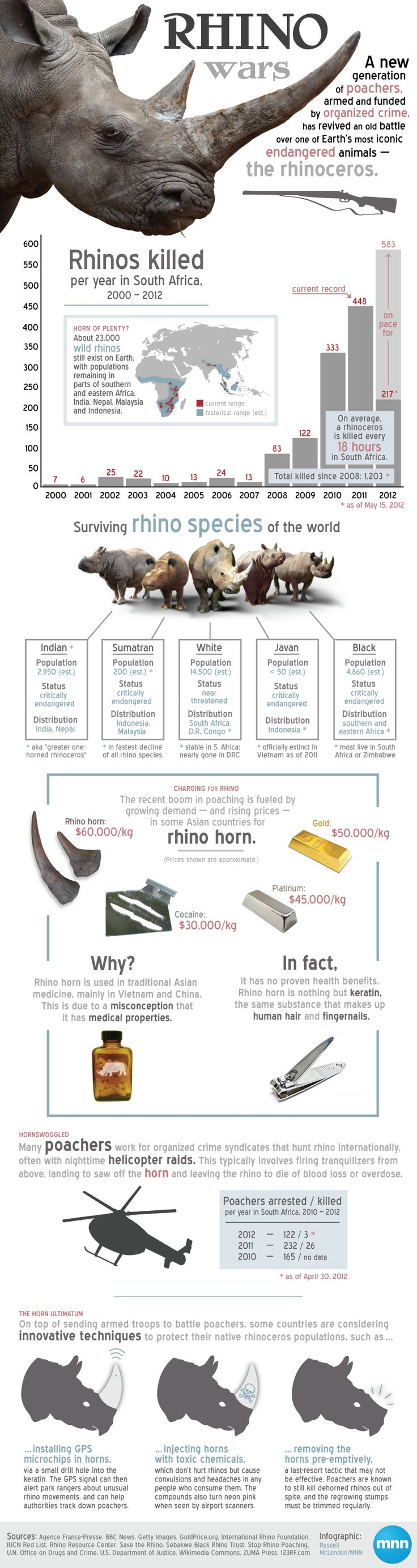 Infographic: Understanding the rhino wars | MNN - Mother Nature Network