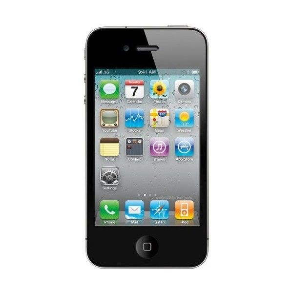 Apple iPhone 4 Black Smartphone 32GB (AT&T) (16.110 UYU) ❤ liked on Polyvore featuring fillers, electronics, phones, accessories and technology