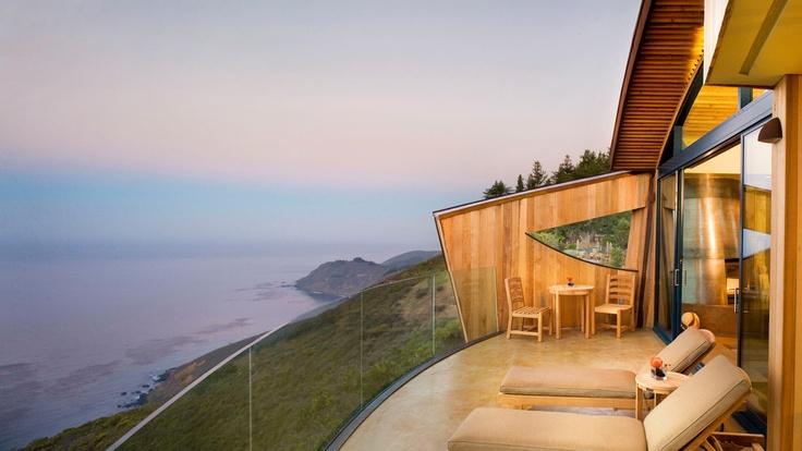 Fantastic inn at breathtaking Big Sur, CA.