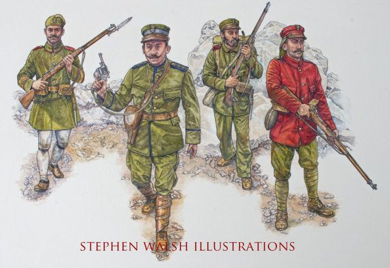 Greek Army Osprey Art - Armies of the Balkan Wars 1912 - 1913