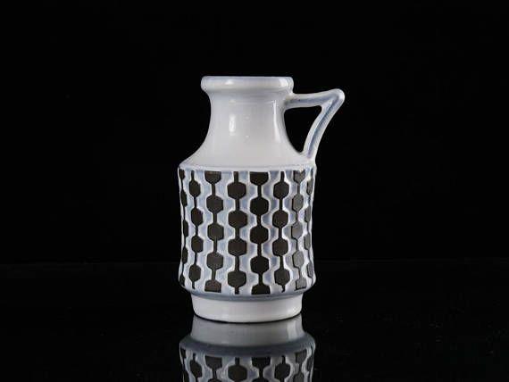 West German Vintage Handled Vase Uebelacker aka Ü Keramik Fat