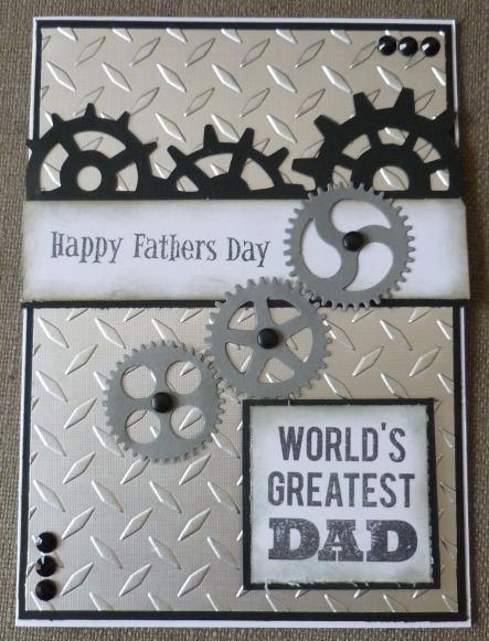 Embossed | Fathers Day Cards for Kids to Make | DIY Birthday Cards for Men