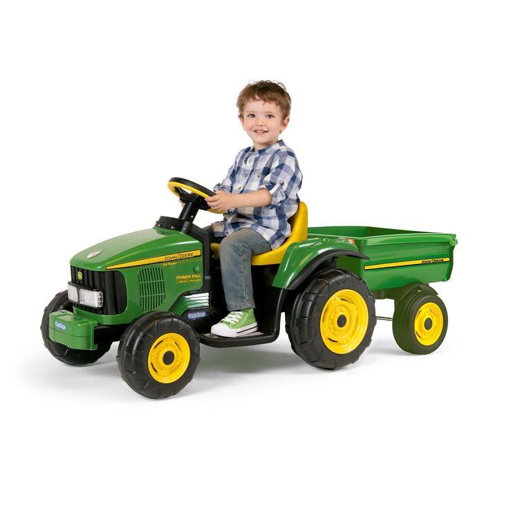 Peg Perego John Deere 6V Power Pull Tractor - Green