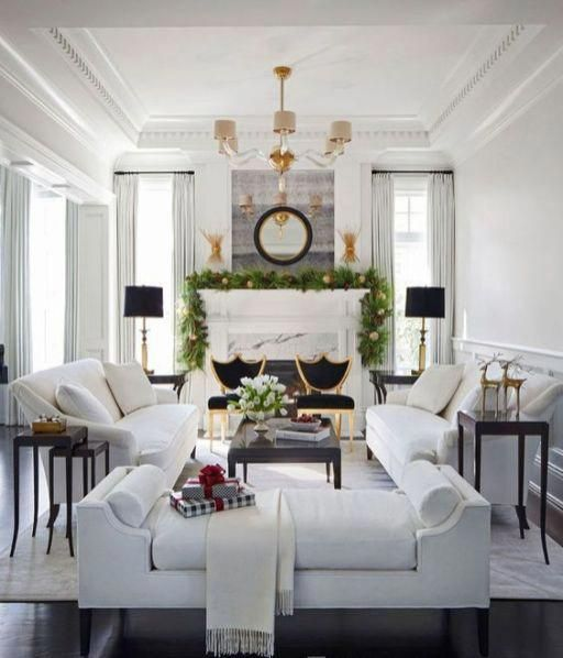 b3995db176 06 A Gorgeous Living Room With A Luxurious Feel Two White Sofas Contrast  Two Black Chairs Next To Them  luxurylivingroom