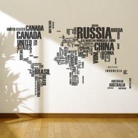 Mapa del mundo ciudades