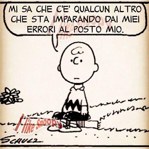 Charlie Brown: Imparare dagli errori.
