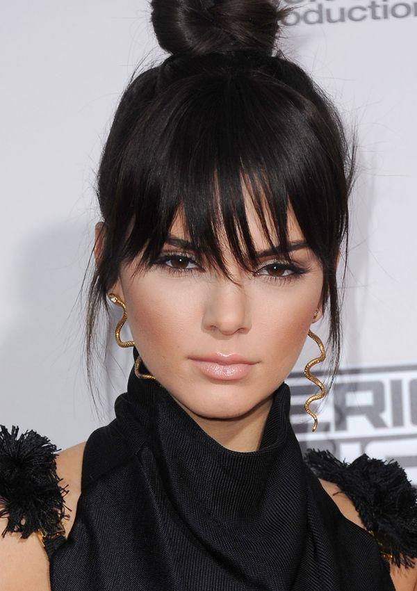 flequillo desfilado de Kendall Jenner