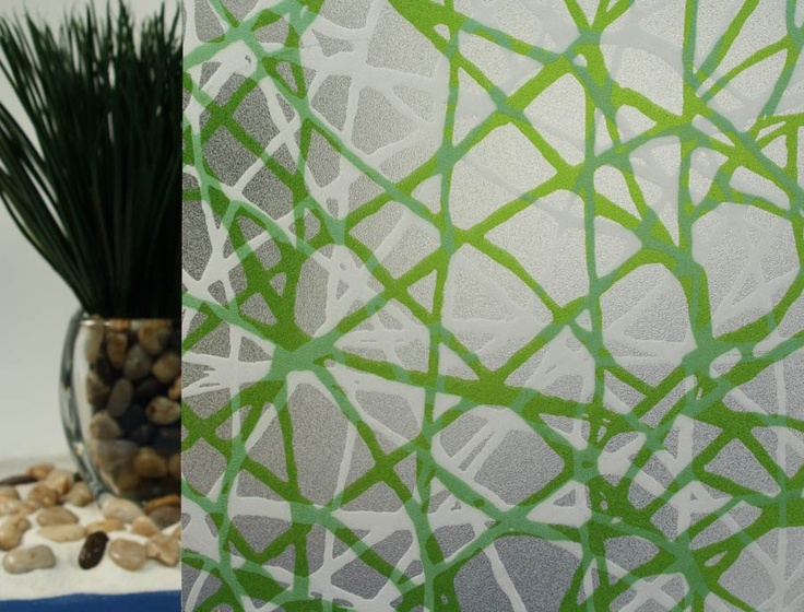 privacy web green decorative window film - Window Film Decorative