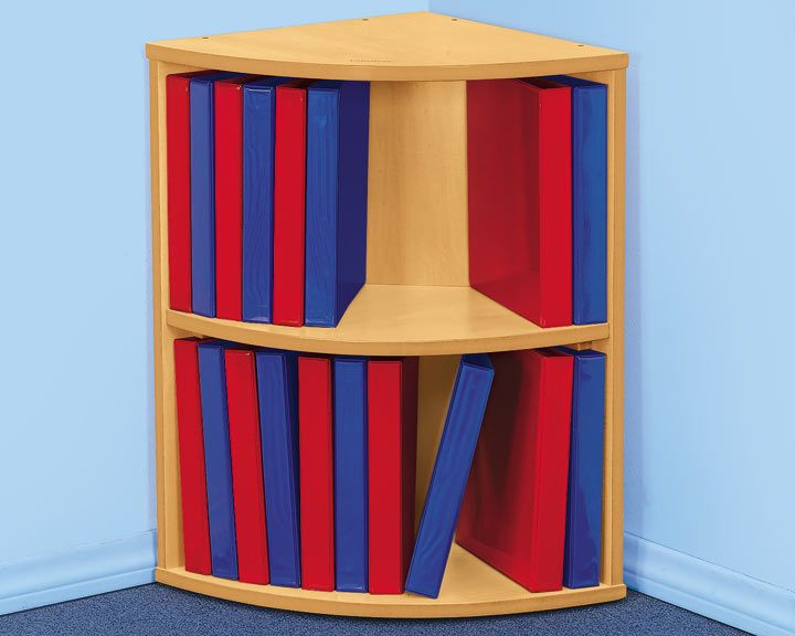 Love this great 2-Shelf Binder Storage Center from Lakeshore Learning! What a perfect way to keep the teacher's desk area organized, while having easy access to documents!