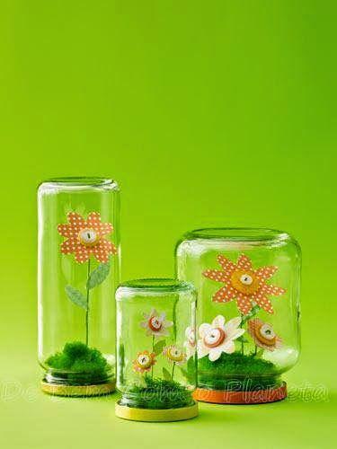 mutlu anne babalar mutlu çocuklar: süslü kavanozlar:)