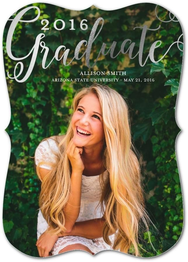 Say it with foil. Share your huge accomplishment with Tiny Prints graduation announcements.