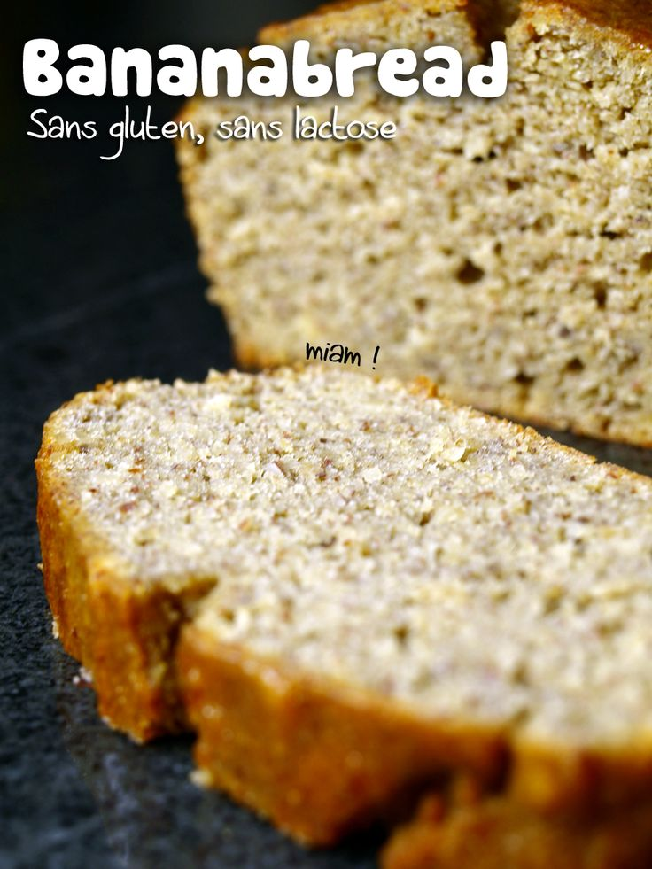 Cake à la banane sans gluten, sans lactose, sans beurre #bananabread #glutenfree #cinnamon