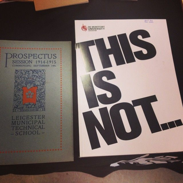 100 years of DMU prospectuses! 1914 and 2014 brochures...