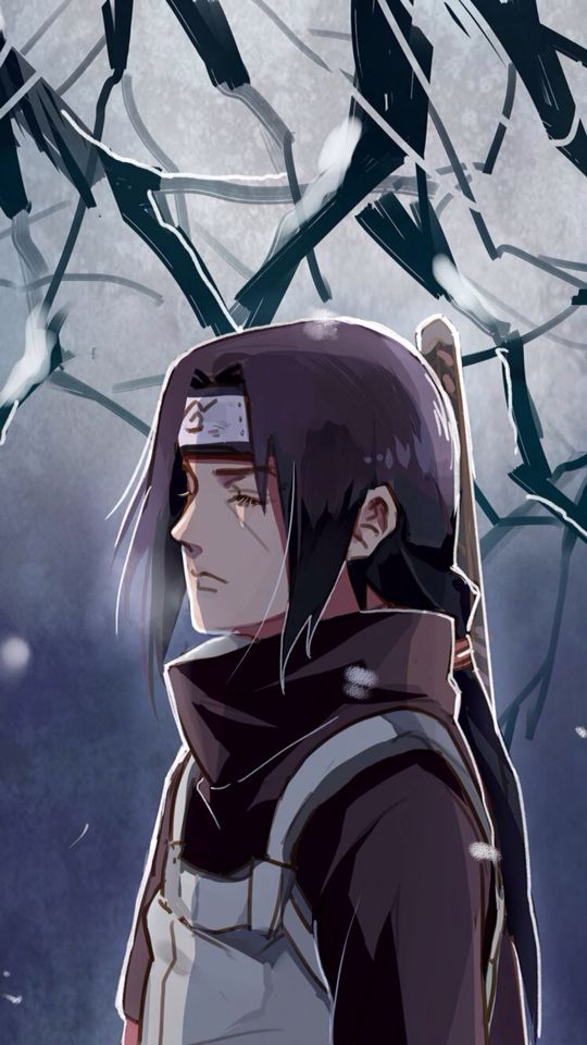 Itachi Uchiha as an ANBU Black Ops.  The decision of whether to obey the command to slaughter his clan or betray the village is clearly weighing on him. #naruto