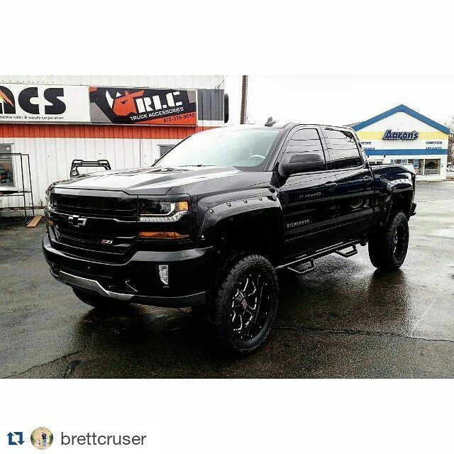 "349 Likes, 6 Comments - N-FAB Inc. (@nfabinc) on Instagram: ""#Repost @brettcruser ・・・ Another 2016 Z-71 ready for a new owner! 7"" Rough Country lift, 35's,…"""