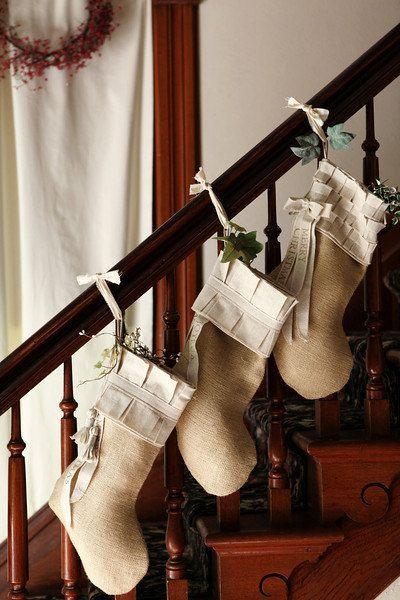 3 Custom  Christmas stockings, this listing is for three Christmas stockings.. $225.00, via Etsy.