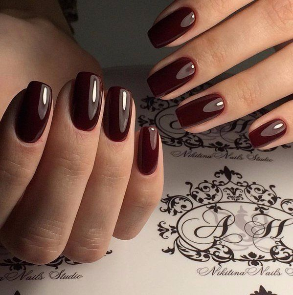 Accurate nails, Business nails, Dark cherry nails, Dark red nails, Everyday nails, Exquisite nails, Fall nails 2016, Luxury nails