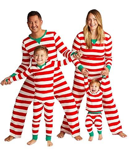 58c5356ca1 New Ekouaer Family Christmas Pajamas Set Cotton Striped Sleepwear PJS Set  Women Men Boys Girls. Christmas Clothing   9.99 - 29.99 findanew