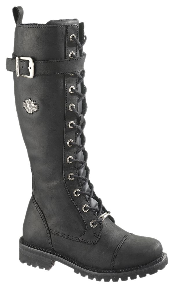 "Harley-Davidson® Womens Savannah 16"" Tall Lace Black High Cut Riding Boot.  I want these!!!"