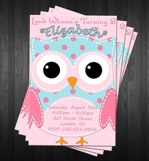 17 Best Ideas About Owl Birthday Invitations On Pinterest