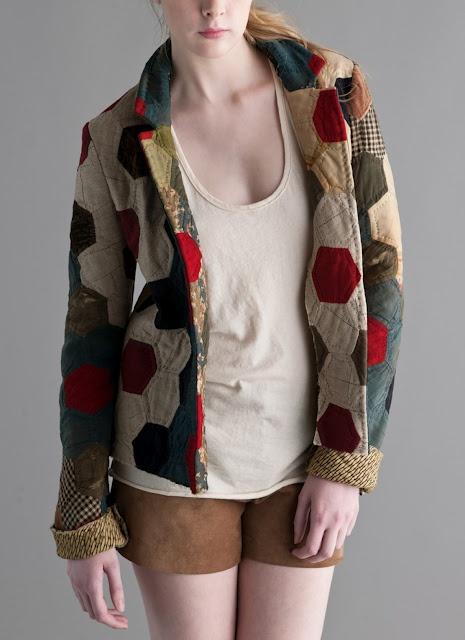 Billy Reid quilted hexagons jacket ~ evencleveland.blogspot