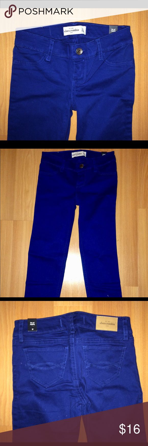 Blue Abercrombie Kids Denim Jeans Excellent condition, never worn.   Has A&F tag  on waist band. abercrombie kids Bottoms Jeans