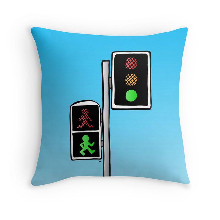 Throw Pillow - Walk! #popart #homedecor #redbubble