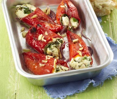 Papriky plněné balkánským sýrem a špenátem
