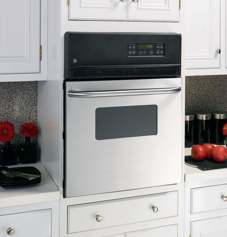 """GE JRP20 24"""" Built-In Electric Oven with Self-Clean Mode and Clear View Window Stainless Steel Ovens Electric Single"""