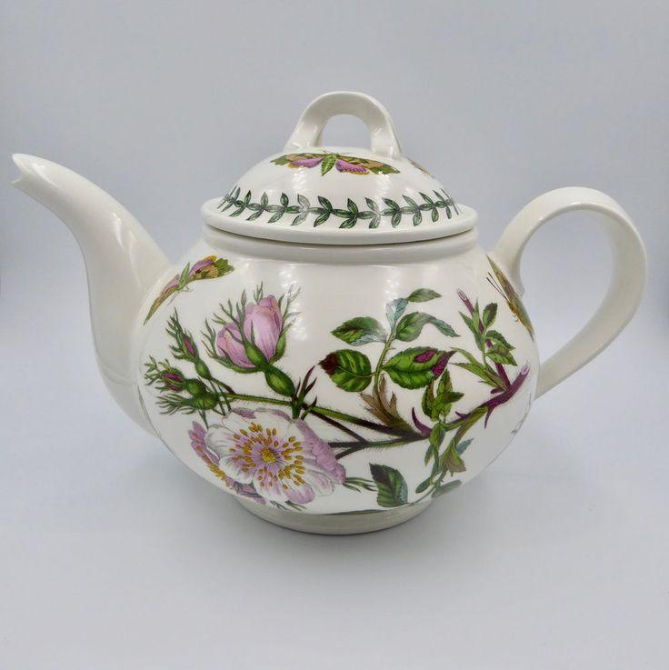 Black Floral Painted Wide Mug